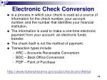 electronic check conversion