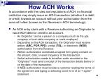 how ach works