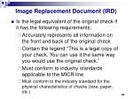 image replacement document ird