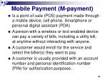mobile payment m payment