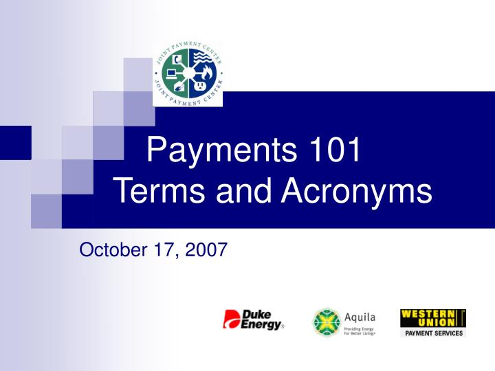 payments 101 terms and acronyms n.