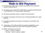 walk in bill payment