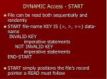 dynamic access start1