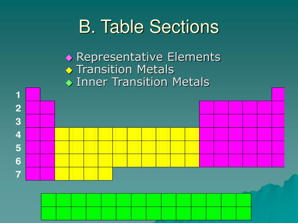 B. Table Sections