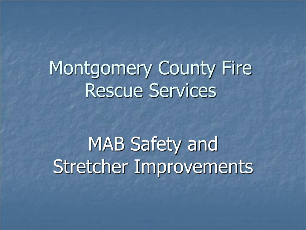 montgomery county fire rescue services l.