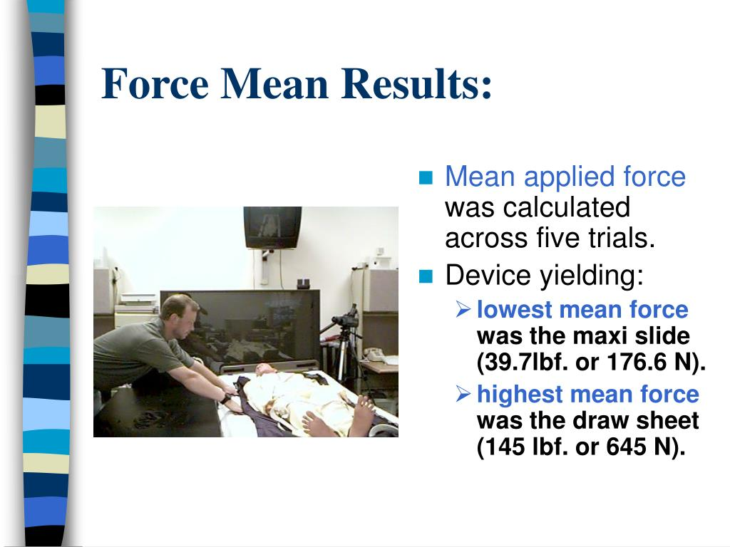 Force Mean Results: