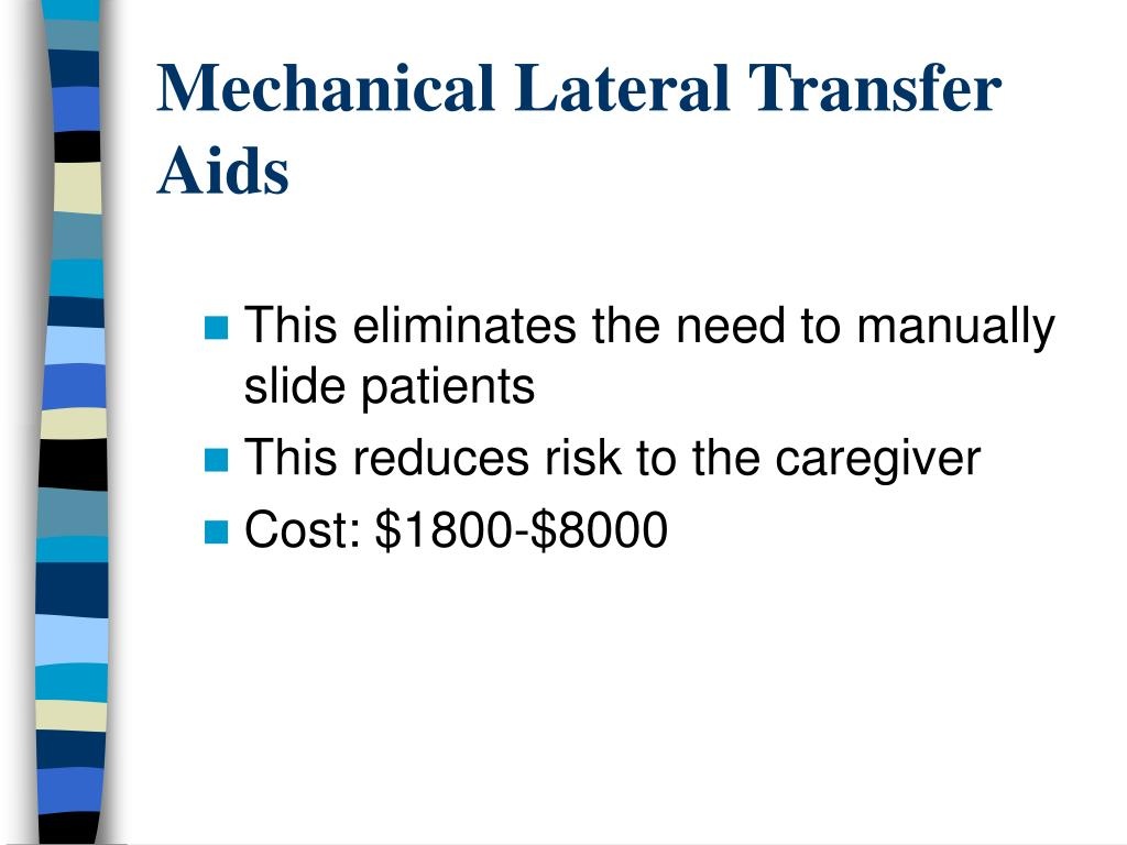Mechanical Lateral Transfer Aids