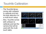 touchlib calibration