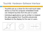 touchlib hardware software interface