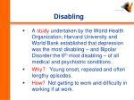 disabling