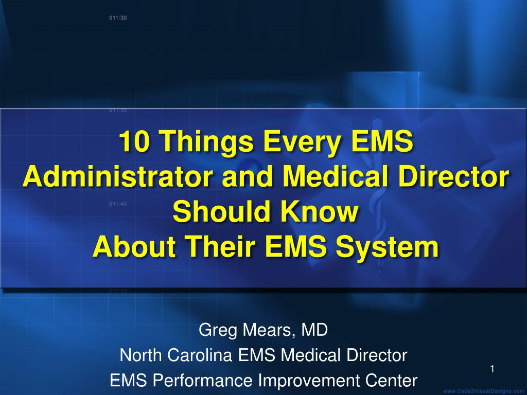 10 Things Every EMS