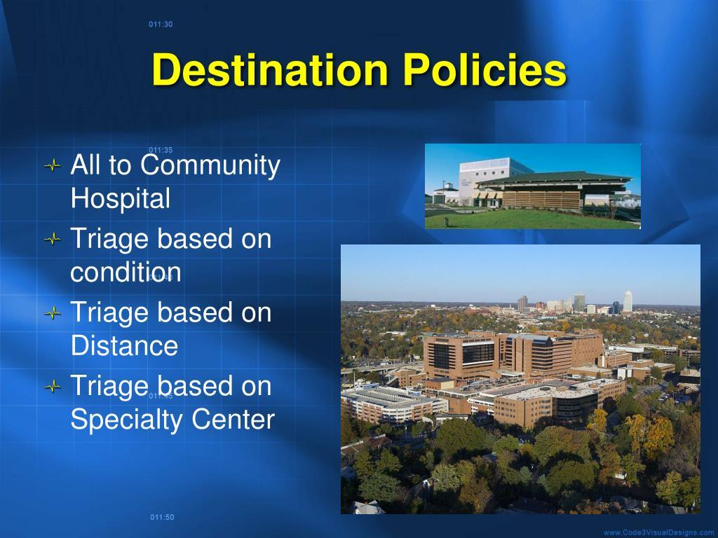 Destination Policies
