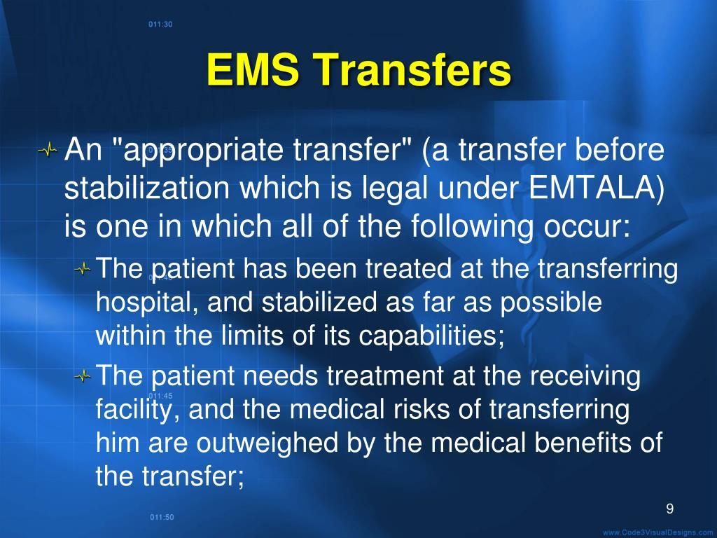 EMS Transfers