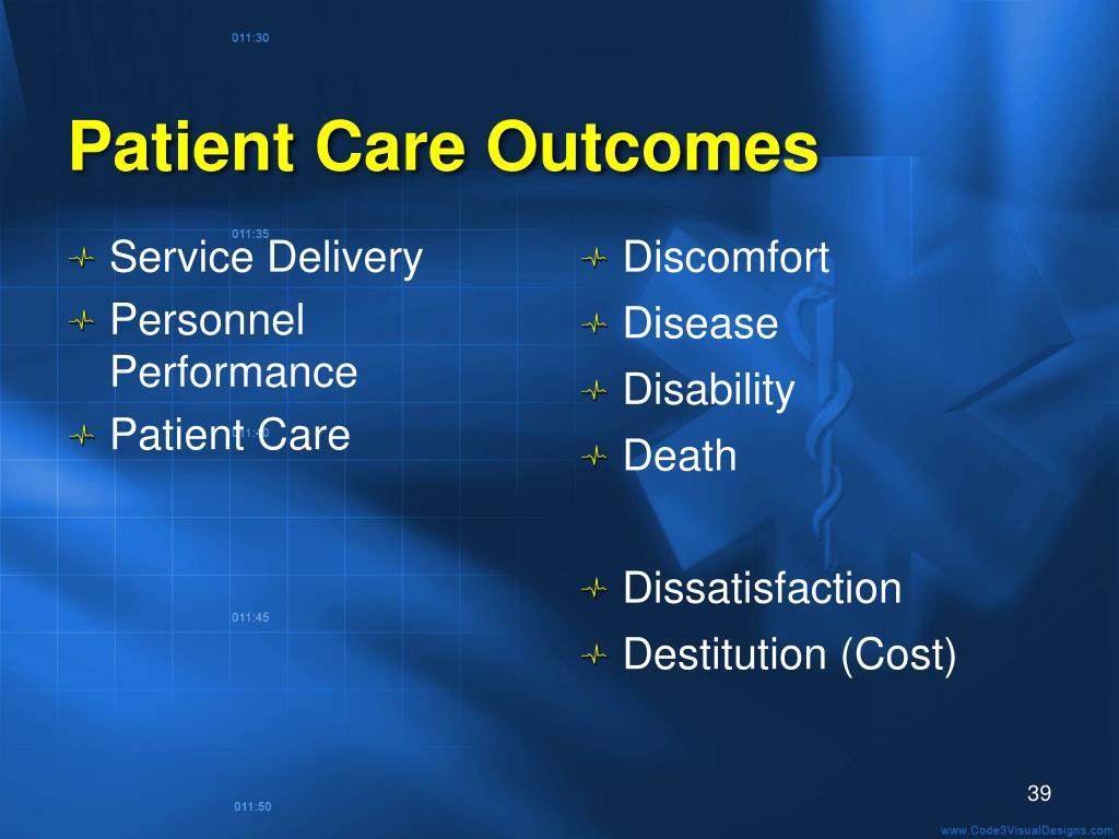 Patient Care Outcomes