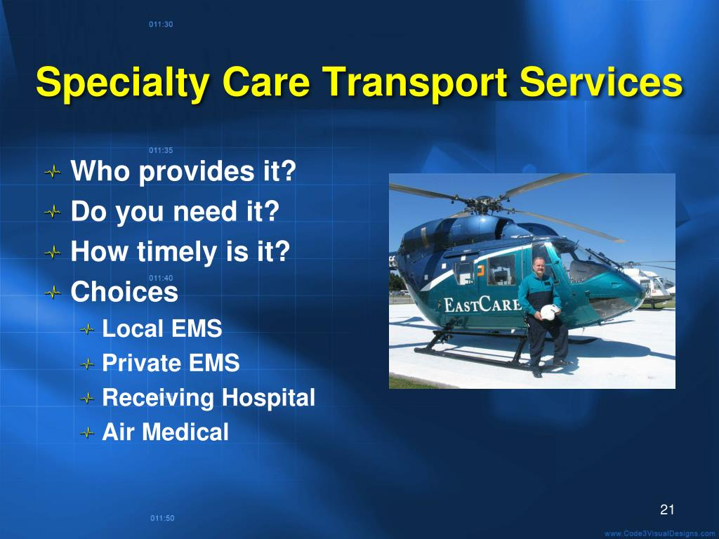 Specialty Care Transport Services