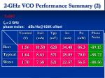 2 ghz vco performance summary 2
