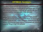 optimus summary