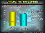 optimus trial primary endpoint
