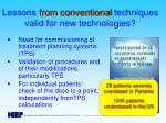 lessons from conventional techniques valid for new technologies1