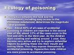ecology of poisoning