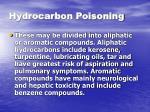 hydrocarbon poisoning