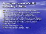 important causes of child poisoning in india