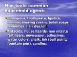 non toxic common household agents
