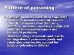 pattern of poisoning