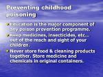 preventing childhood poisoning