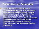 prevention of poisoning