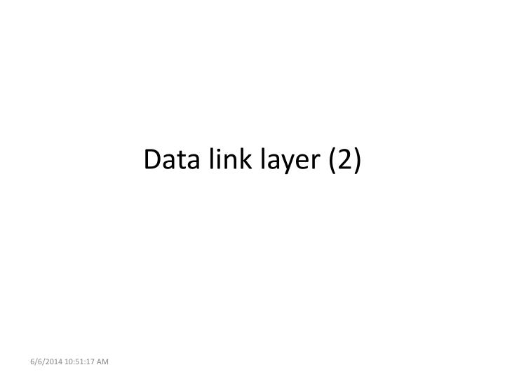 data link layer 2 n.