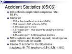 accident statistics 05 06