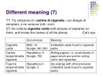 different meaning 7