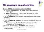 ts research on collocation1