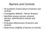 barriers and controls