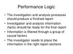 performance logic