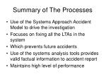 summary of the processes