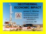 geothermal economic impact