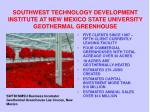 southwest technology development institute at new mexico state university geothermal greenhouse