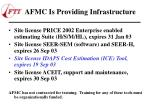afmc is providing infrastructure