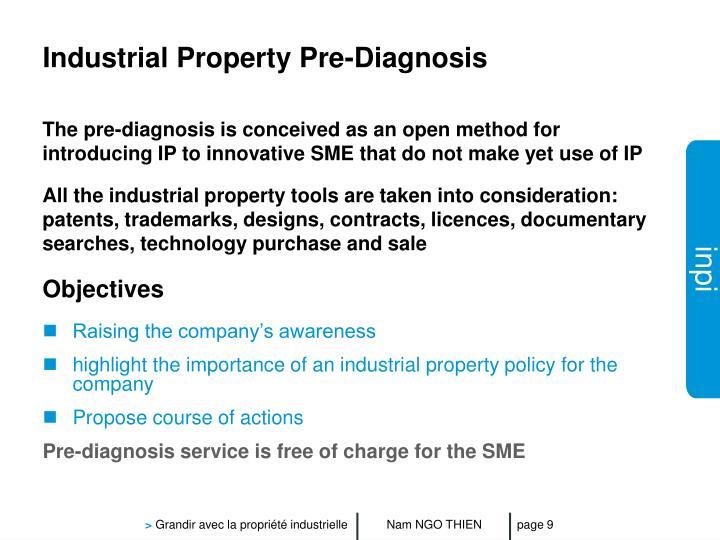 Industrial Property Pre-Diagnosis