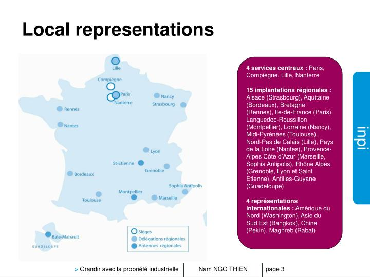 Local representations