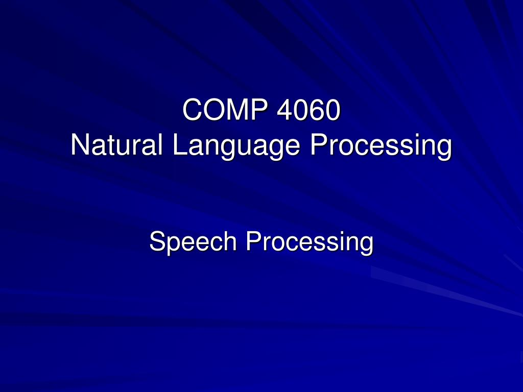 COMP 4060
