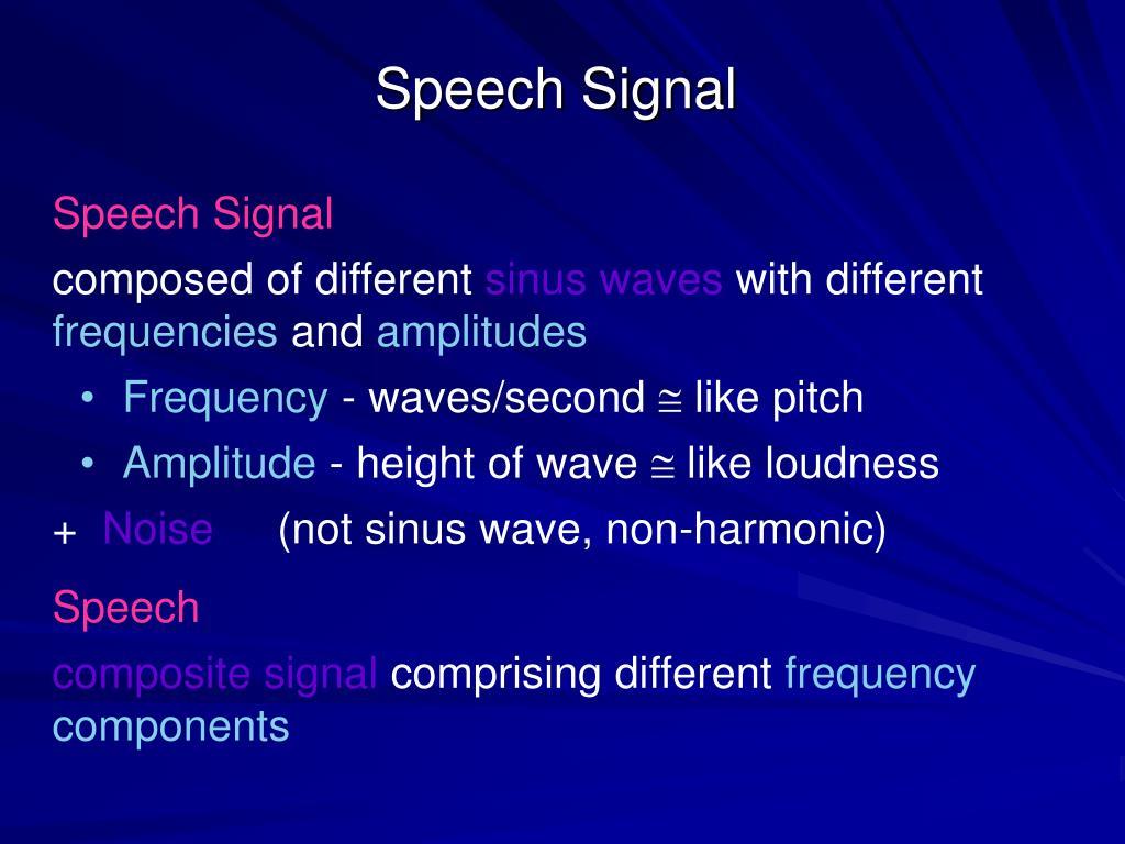 Speech Signal