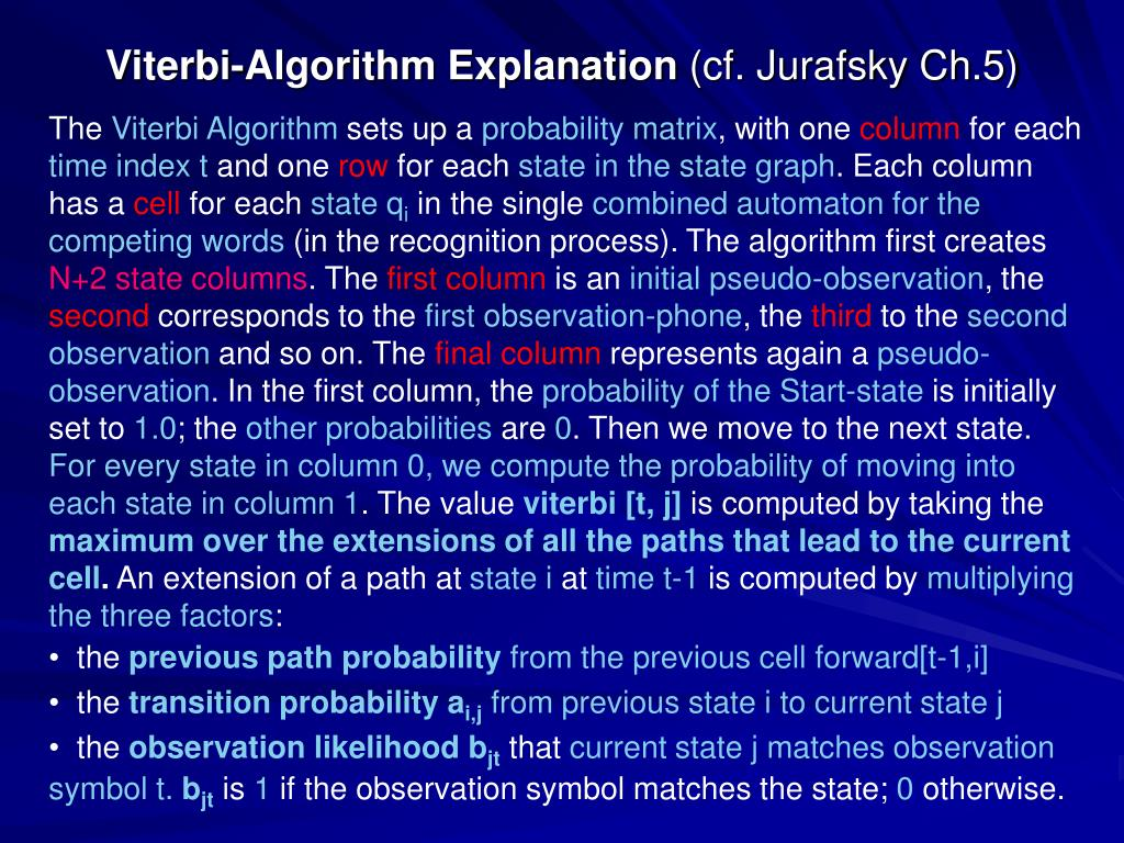 Viterbi-Algorithm Explanation