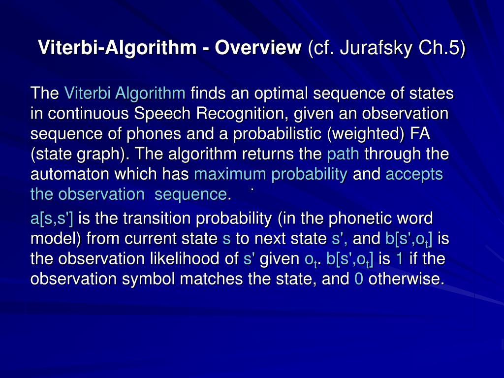 Viterbi-Algorithm - Overview
