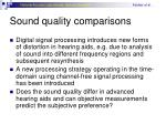 sound quality comparisons
