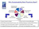 why sustainability best practices now