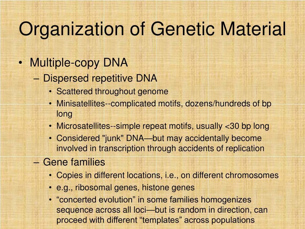 Organization of Genetic Material