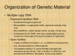 organization of genetic material27